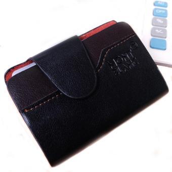 Dompet Kartu Kredit / ATM Kulit 26 Slot Handmade (Coklat tua)