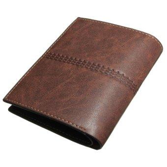 ... Dompet lipat dari kulit PU untuk priapemegang kartu ID tas koin lipat dua tas tangan warna ...