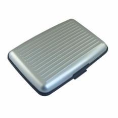 Dompet Penyimpanan Kartu Serbaguna - Card Guard Aluminium Wallet - Silver
