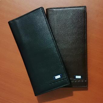 Dompet Pria Bovis Long Fashion Wallet 8 Inchi DF-95 PU Leather -Black