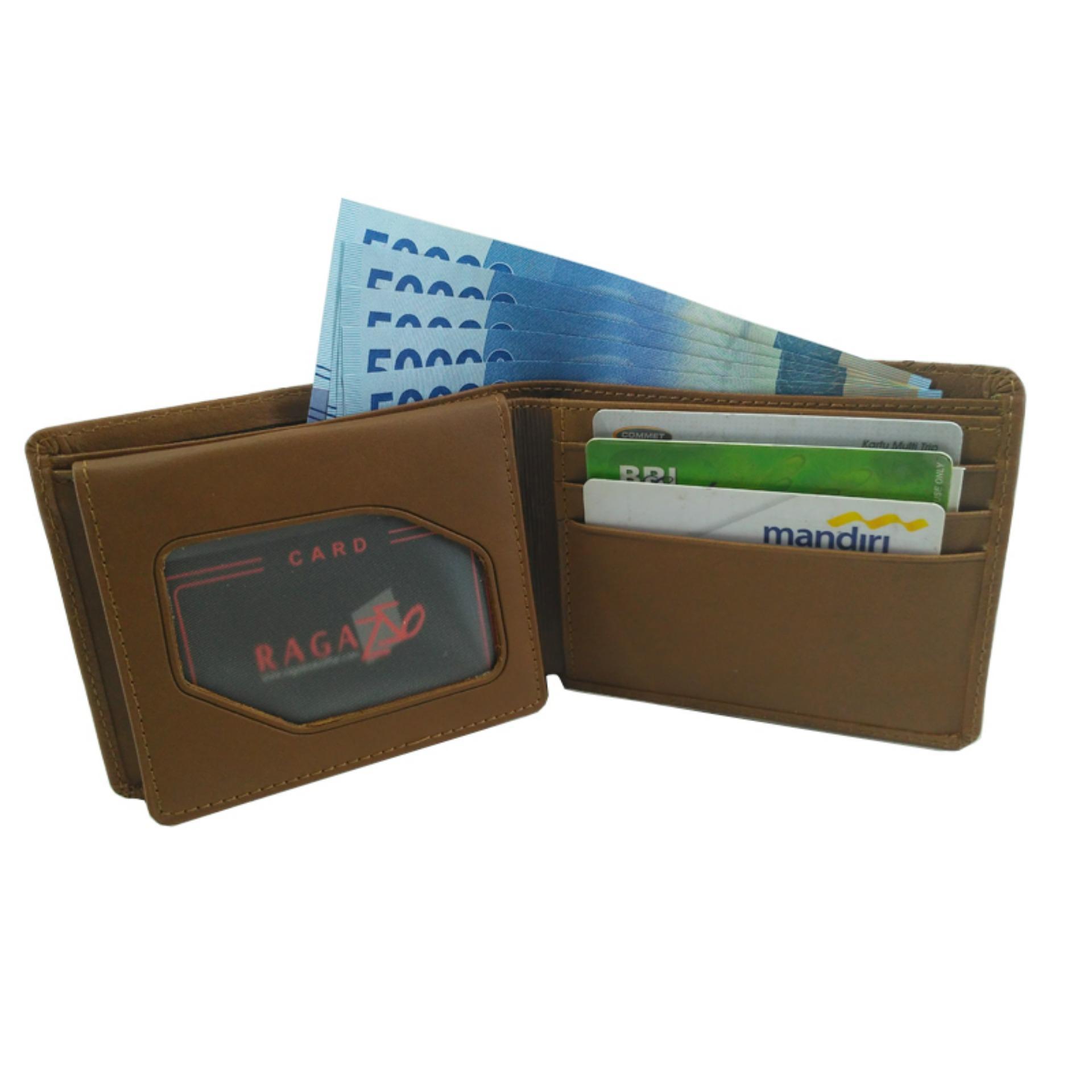 Dompet Pria Kulit Asli Bifold Wallet Mens Import Branded Murah Terbaru Ragazzo Light Brown DKR-