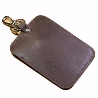 Dompet STNK Motor Bahan Kulit Sapi Asli (warna coklat tua) - 2