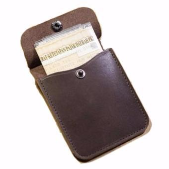 Dompet STNK Motor Bahan Kulit Sapi Asli (warna coklat tua) - 3