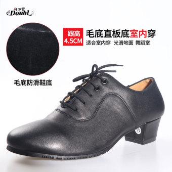 DISKON Doubl menari dewasa sepatu yang modern sepatu sepatu dansa (Dalam Ruangan bagian bawah rambut lurus bawah 4.5 cm) TERMURAH