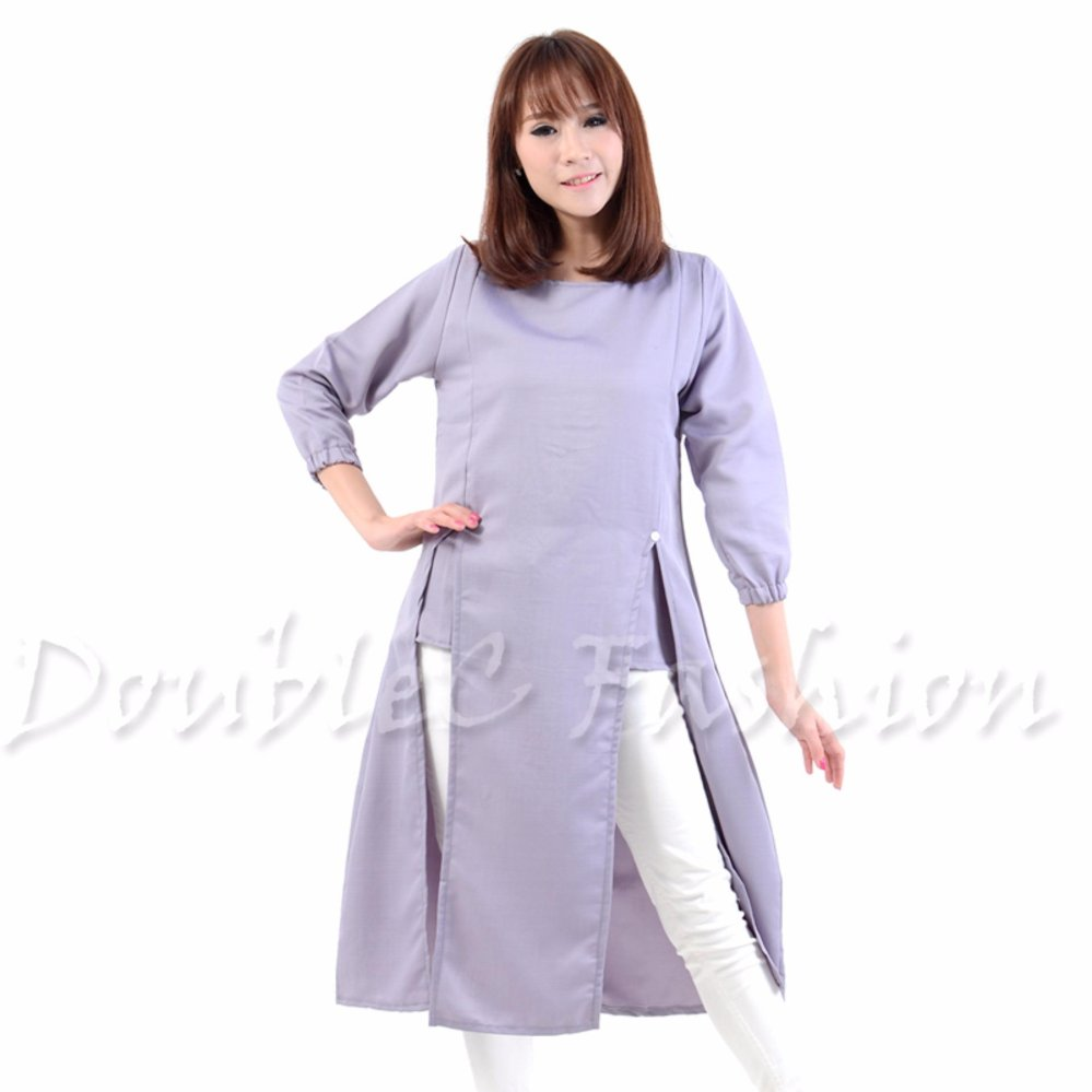 DoubleC Fashion Tunik Pevita Grey .