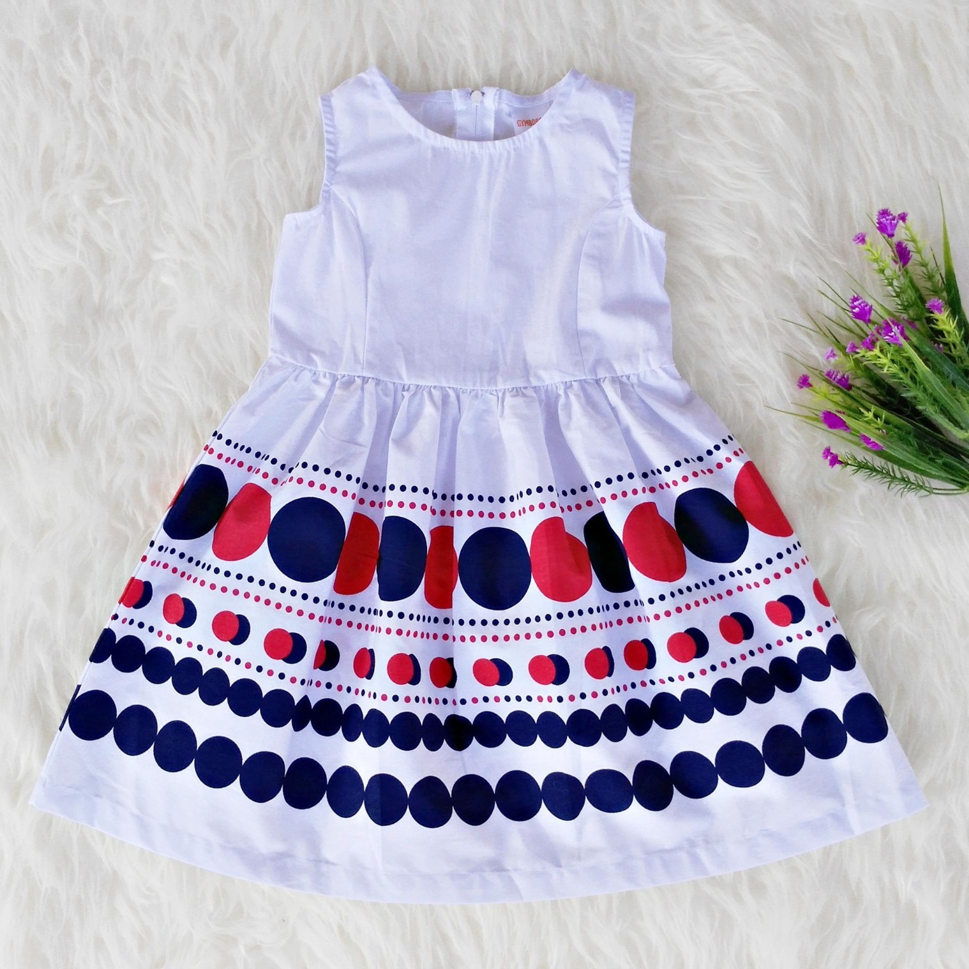 Dress Baju Anak Perempuan Sleeveless - Gym Polkadot