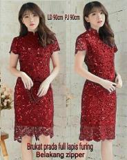 Dress (M - Fit L) RENID - Brokat Full Furing
