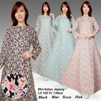 Dress maxi gamis kaftan wanita jumbo long dress Lila - pink