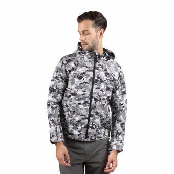 Eiger Jacket Targa Motif Modif - Grey Army