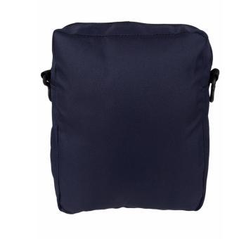 Elfs Shop - Tas Selempang Pria Men's Sling Crossbody Shoulder Bag Canvas Leather Kulit-Biru Dongker - 3