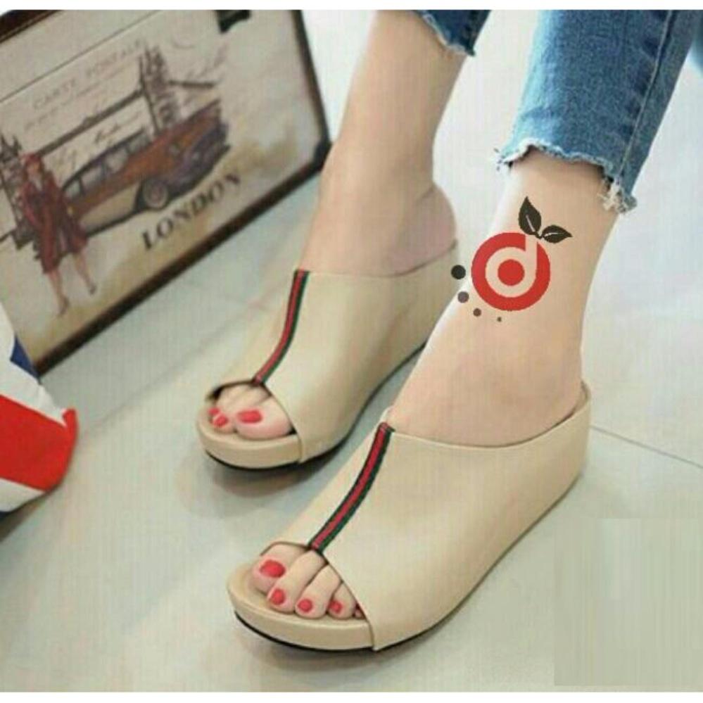 Grivera Sepatu Wanita Wedges Laser Sa52 Cream Beli Harga Murah Sandal Zr01 Tan Ellen Grosir Everlasting