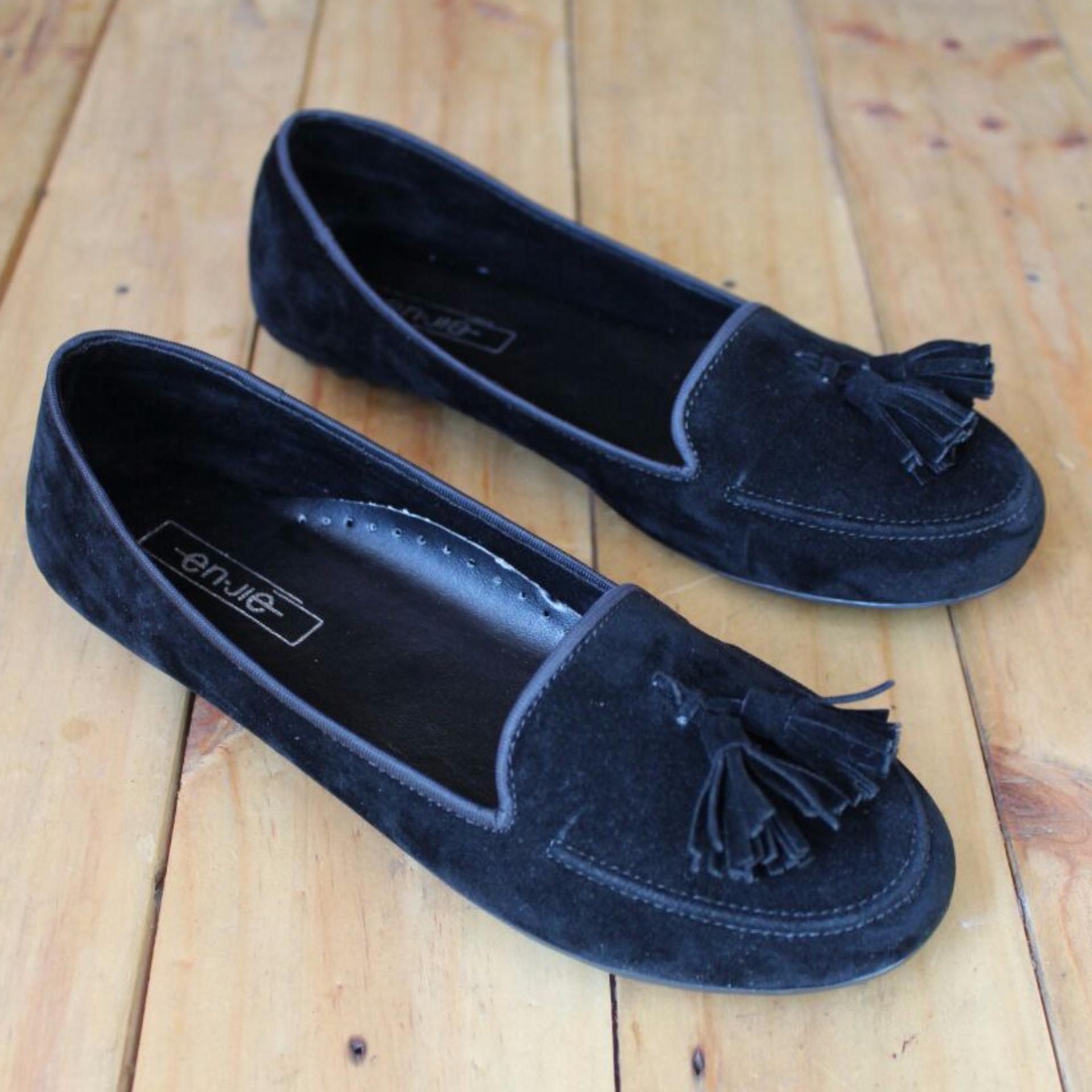 Spek Harga Kelincimadu Laser Slip Flatshoes Black Dan Kelebihan Source · En Jie Flatshoes BL06 Black