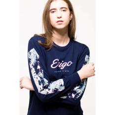 ERIGO Tshirt-DISCO-LONGSLEEVE Unisex  NAVY