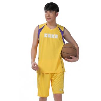 Erke basket kebugaran pelatihan pakaian basket pakaian (Kuning Emas)