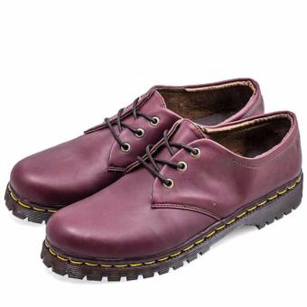 Harga Everflow Fashionable Women Docmart Boots Synthetic A096 Maroon ... 678f045349