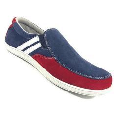 EWN Sepatu Slip On Casual Pria - Merah Navy