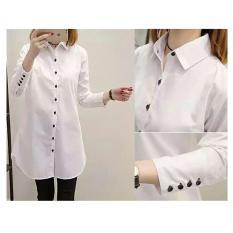 F Fashion Tunik Wanita Aqua - Putih / Baju Wanita / Blouse Korea / Atasan Wanita / Baju Formal / Kemeja Wanita / Kemeja Formal / Atasan Muslim / Kemeja Cewek Tunik / Kemeja Kerja / Kemeja Wanita