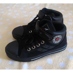 Fanie Shoes - Andy Sepatu Sekolah Boot Hitam Anak Laki Murah
