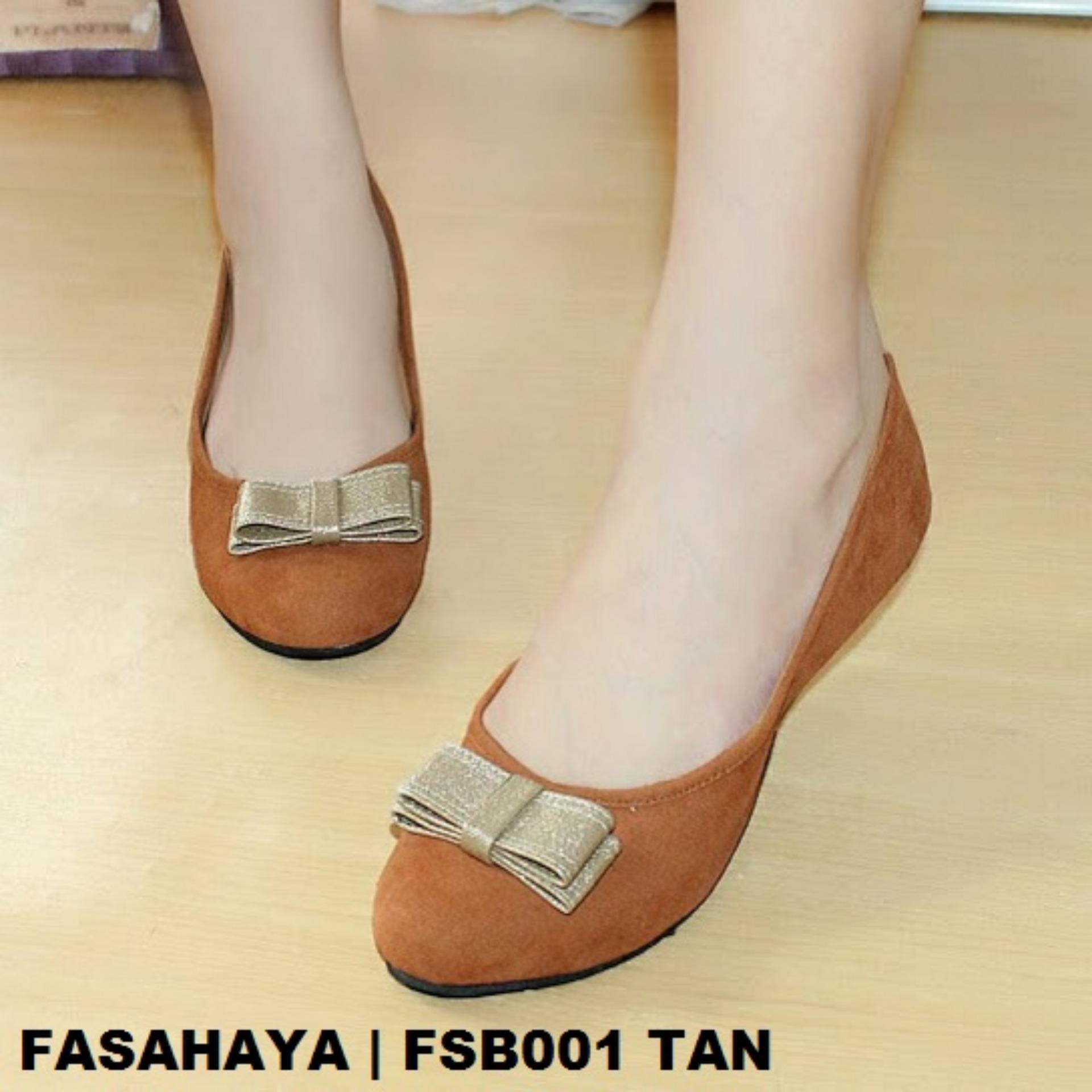 Fasahaya Sepatu Wanita Flat Shoes Ballet Cantik Terbaru Murah FSB001 Tan 49c421e4b1