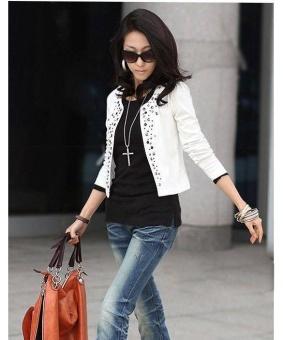 Fashion Baru Korea Perempuan Wanita Lengan Setelan Panjang Baju JasAnd Blazer Itu Bang Pendek Bahu Jaket Pakaian - 5