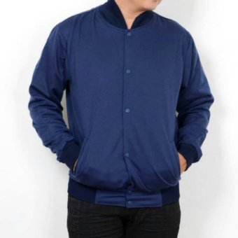 Fashion Bazaar Basic Men Jaket Varsity - Navy