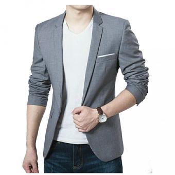 Perbandingan harga Fashion Blazer Pria keren Grey Whitelist - abu Hot Deals