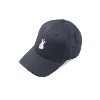 Fashion Casual Adjustable Solid color Baseball Cap Golf snapback hat(Black-D) - intl