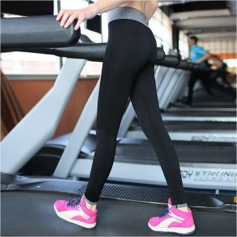 Fashion Ladies Breathable Fitness Stretchy Running Leggings Elastic Sports Yoga Pants - intl