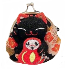 ... Silicon Sponge Makeup Polos Random 1 Pcs Harajuku Lip Balm . Source · Fashion lovely Japanese Lucky Cat Wallet Kimono Fabric Coin Purse Bag Black Hot ...