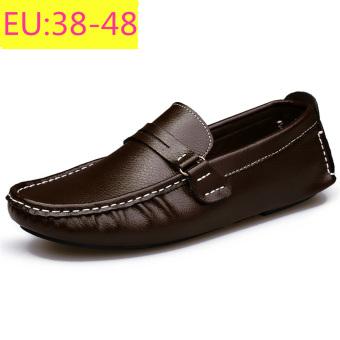 Tokohjo Harga Fashion Pria Sepatu Sandal Gommino Loafers Coklat