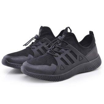 Fashion Running Shoes ZOQI Men's Sports Shoes Sneaker (Black) - intl - 5