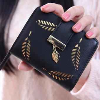 Fashion tas kecil selempang bahu rumbai wanita kulit PU + dompet kecil berlubang .