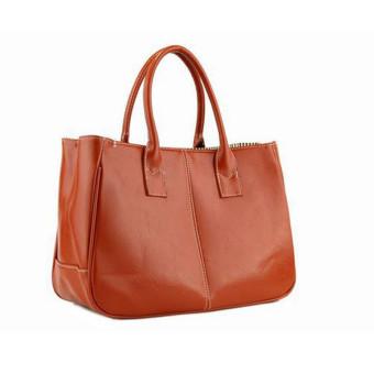 Fashion wanita Korea elegan tas kulit wanita tas jinjing coklat
