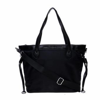 Fashionity Women Nylon Waterproof Tote Bag DM 2062 Black - Tas Wanita - 4