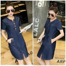 Fashionshop Dress Chelsy Denim / Dress Korea / Dress Renda / Dress Brukat / Dress Midi