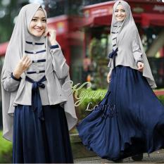 Fashionshop Hijab Lamina Syari Navy  / Dress Muslimah / Hijab Muslim / Gamis Syari / Baju Muslim / Fashion Muslim / Fashion Maxi / Setelan Muslim / Hijab Wanita / Gamis Wanita / Jilbab Instan / Kebaya / Baju Wanita