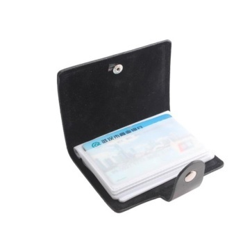 Faux Leather Credit Business Id Card Holder Case (Intl) - intl