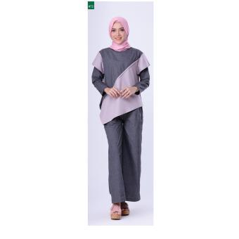 Gambar FDL 0617 Baju Muslim Wanita Abu Merk: Garsel Fashion