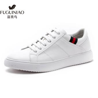 FGN Tambah Beludru Musim Dingin Yang Hangat Sepatu Kets Putih Sepatu Pria (Putih)