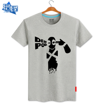 eShop Checker Flock baru film musim panas Zhou Bian t-shirt (Abu-abu