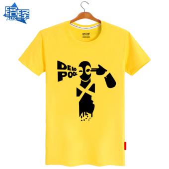 Flock baru film musim panas Zhou Bian t-shirt (Kuning)