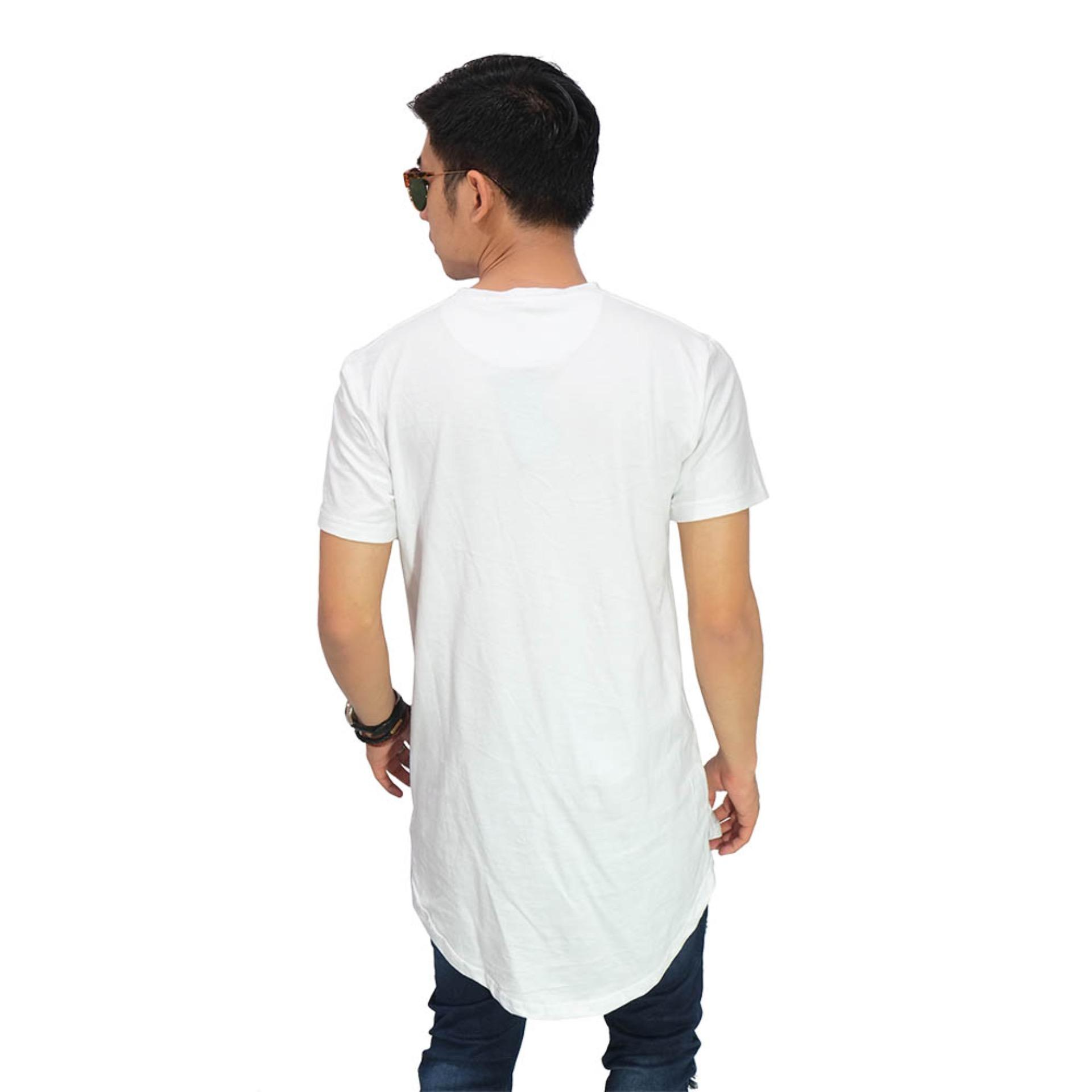 Frozenshop.com - Longline T-Shirt Basic White .