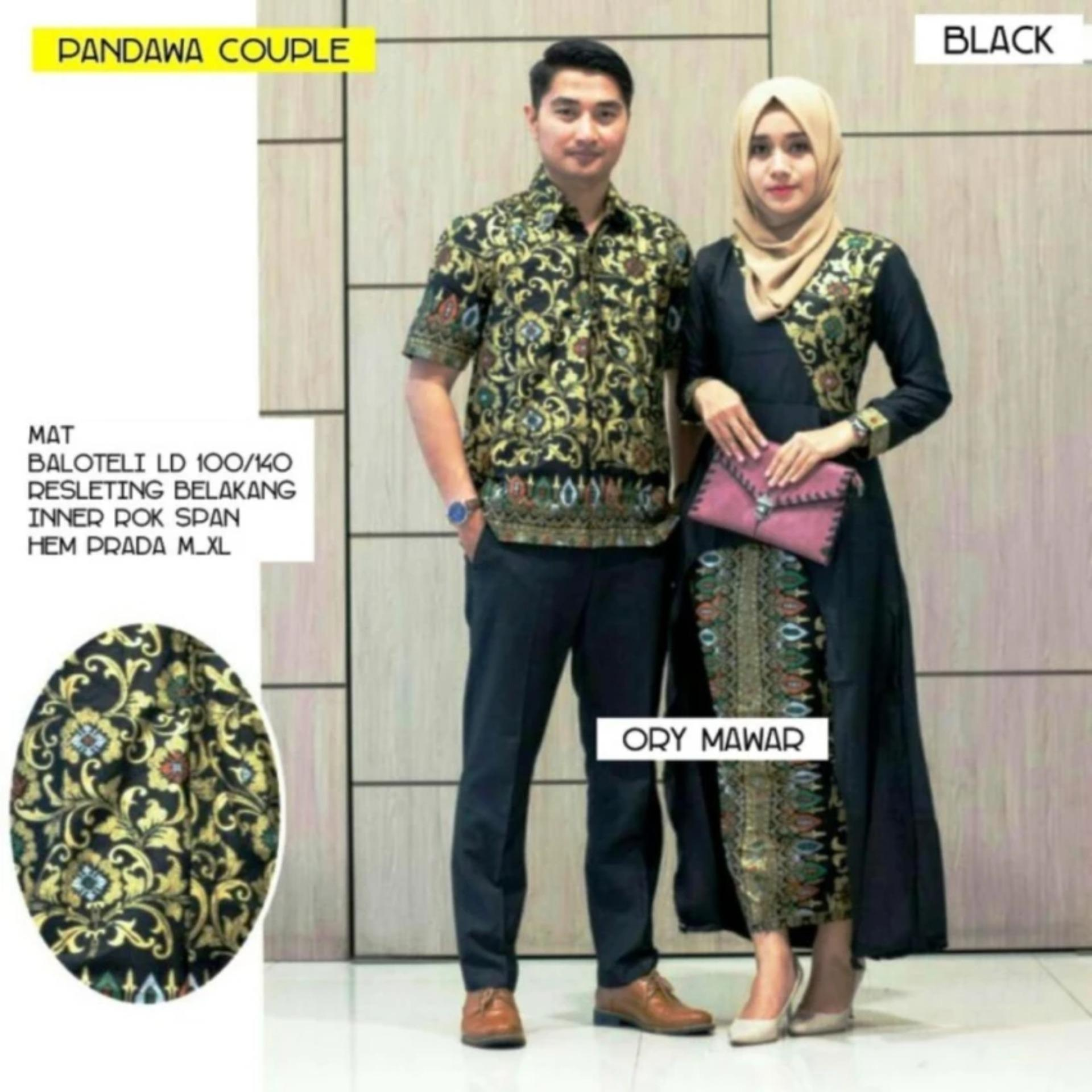 ... Fufuclothes - Pandawa Batik Couple Sarimbit - Hitam ...