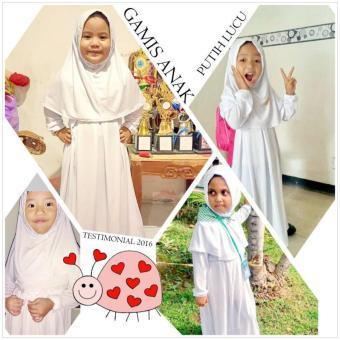 Gamis Anak / Gamis Manasik / gamis anaka perempuan / baju haji / baju haji anak / baju idul adha / gamis idul adha - 3