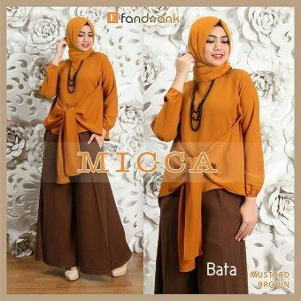 Gamis / Baju Wanita Muslim Micca Syari 3in1 (bata)