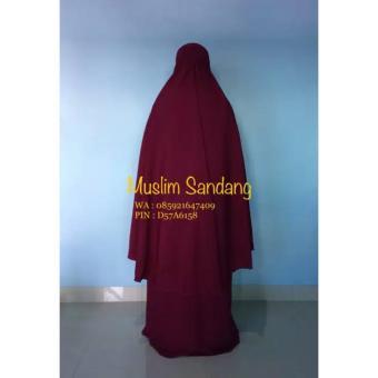 Gamis Syar'i Ayuk Collection / Merah maroon - 3