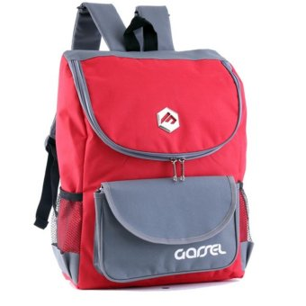 Garsel Tas Ransel Backpack Sekolah Kuliah Kerja Best Seller - Merah