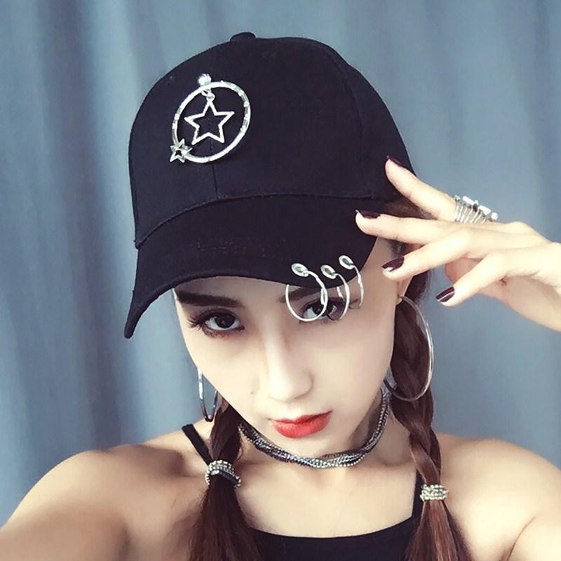 Flash Sale GD Korea Fashion Style pita panjang kepribadian topi topi datar (Pada  lingkaran kecil berujung lima bintang dalam besar bintang berujung lima ... 785994a3b9
