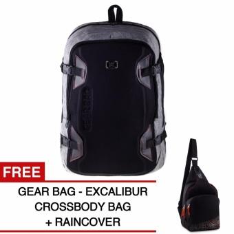 Gear Bag Backpack - Light Grey + Raincover + FREE Gear Bag - Excalibur Crossbody Bag