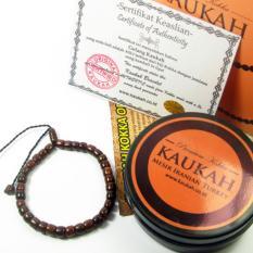 Gelang Tasbih Kokka Fuqaha Asli Kaukah Timur Tengah - Marjan Kotak Coklat